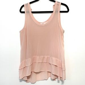 Wilt Women's Tie Open Back Baby Doll Top Size M